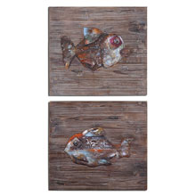 Fresh Fish Metal Wall Art S/2