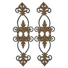 Lacole Rustic Metal Wall Art, Set/2
