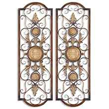 Micayla Antique Metal Panels, Set/2