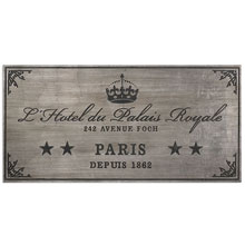 Palais Royale Plaque Art