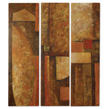 Mistic City Abstract Wall Art Set/3