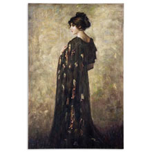 Contemplation Lady Canvas Wall Art