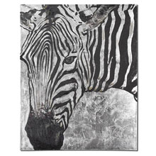 Zebra Knows Hand Painted Art