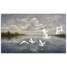 Arrival Of The Birds Canvas Art