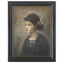 Young Serenity Girl Framed Art