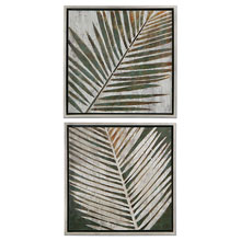 Detailed Palms Framed Art, S/2