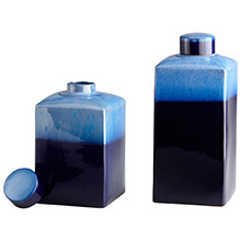 Small Cobalt Drip Container