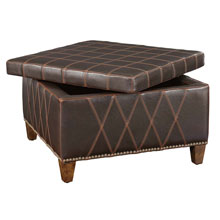 Wattley Double Stitched Storage Ottoman
