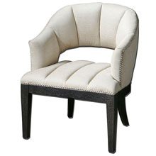 Bovary White Tufted Armchair