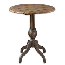 Lina Round Accent Table