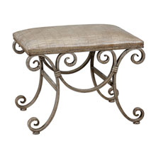 Leontina Metal Frame Small Bench