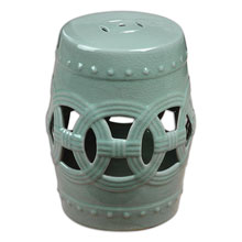 Old Sage Ceramic Garden Stool