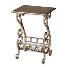 Lilah Silver Leaf Magazine Table
