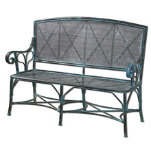 Generosa Forged Iron Bench