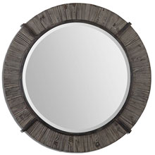 Clint Round Wood Mirror