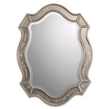 Felicie Oval Gold Mirror