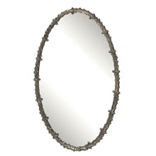 Costano Silver Leaf Oval Mirror