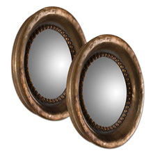 Tropea Rounds Wood Mirror S/2