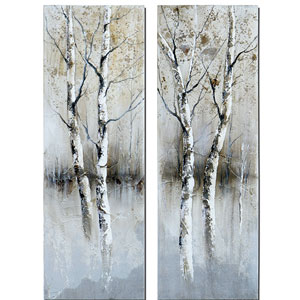 Birch Tree Panel Art Set/2